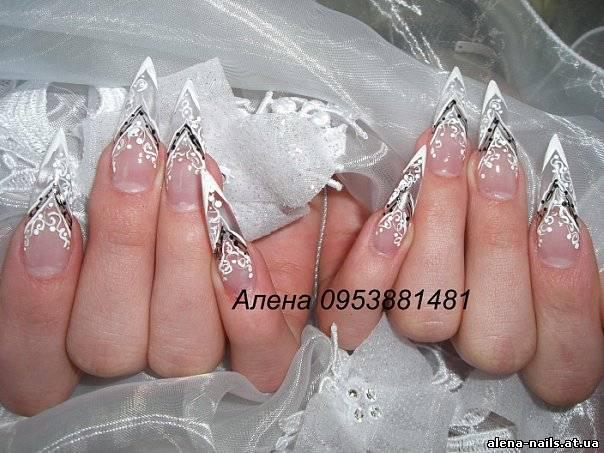 И гелевых ногтей свадебный дизайн
